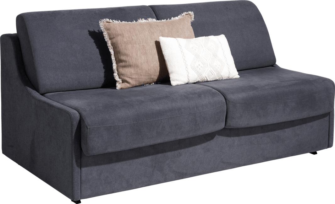 Canapé convertible moderne en tissu gris anthracite