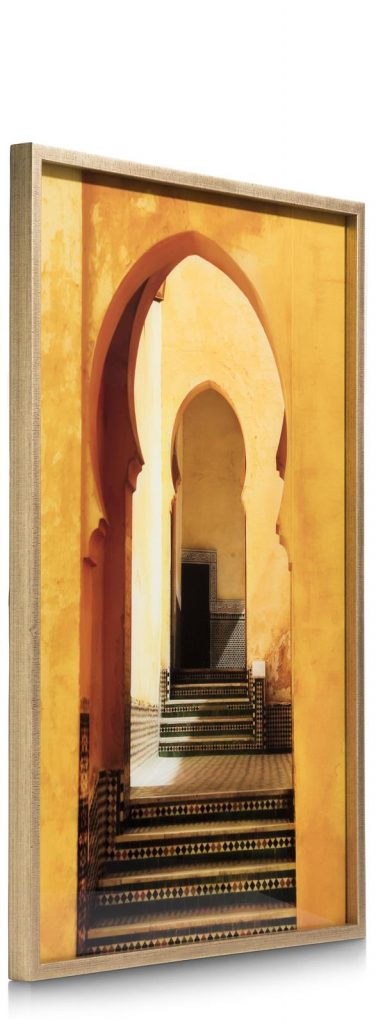 Peinture style orientale teintes dorées