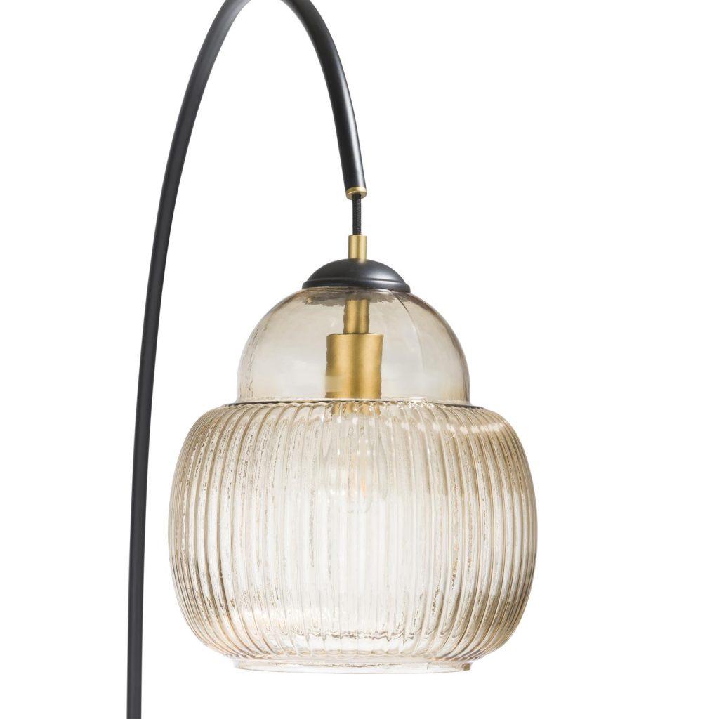Lampe sur pied vintage socle en marbre noir