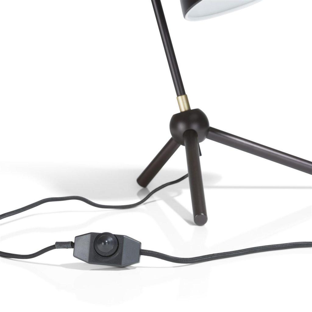 Lampe à poser rétro en métal noir