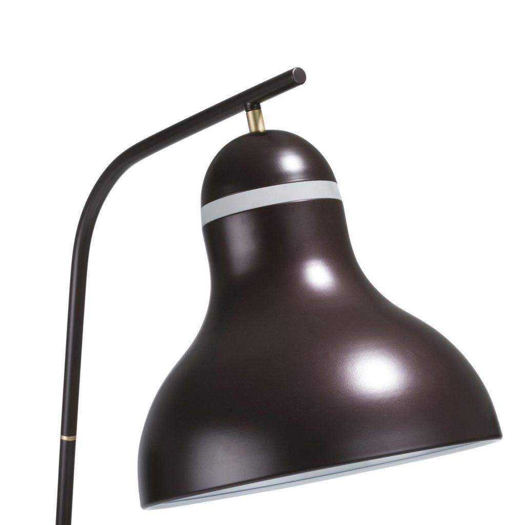 Lampe sur pied en métal noir style rétro chic