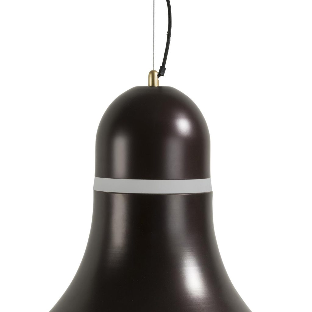 Lustre en métal noir style rétro chic