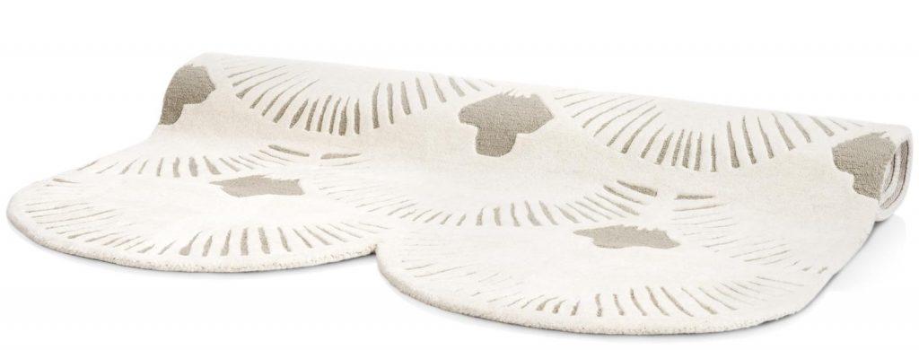 Tapis déstructuré en laine et à motifs teintes neutres