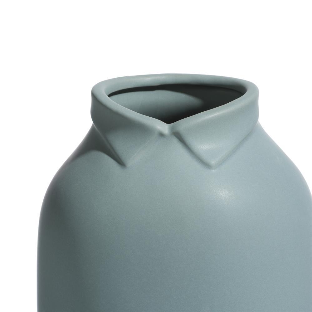 Vase en céramique bleu gris tendance