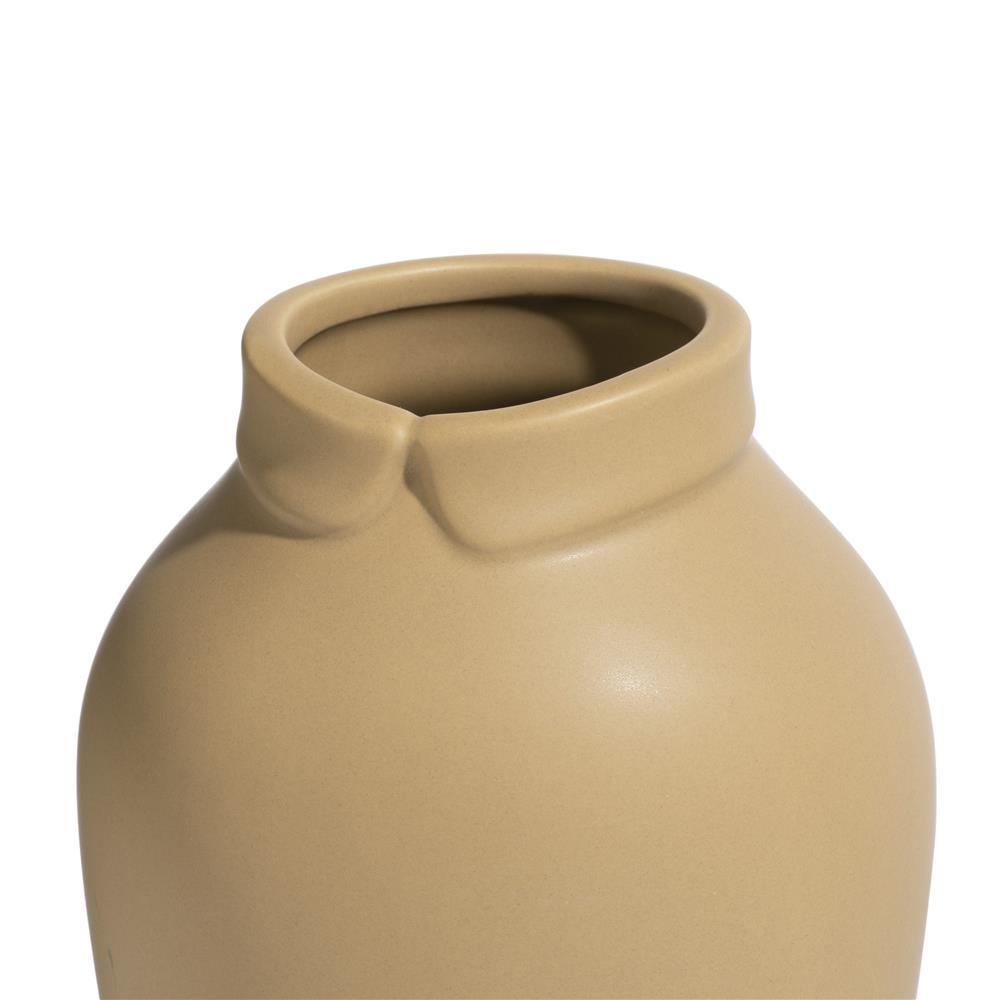 Vase en céramique jaune tendance