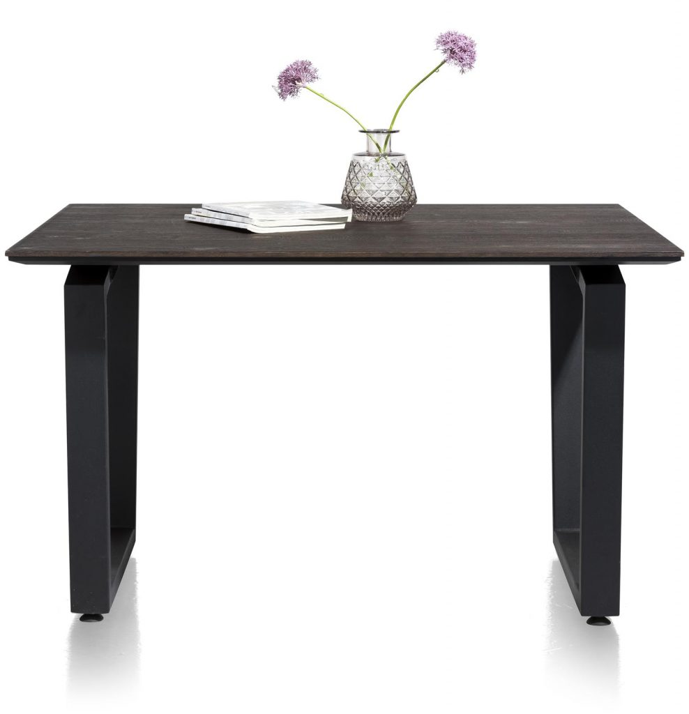 Table à manger moderne noir et gris anthracite