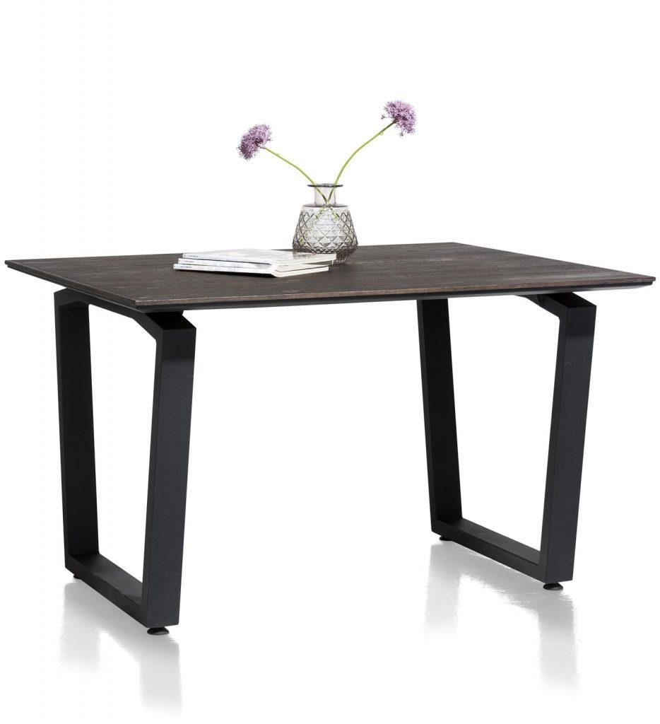 Table à manger moderne noir et gris anthracite