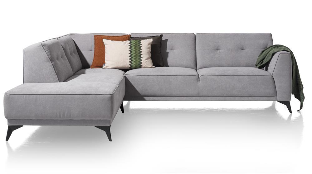 Canapé d'angle moderne en tissu gris clair