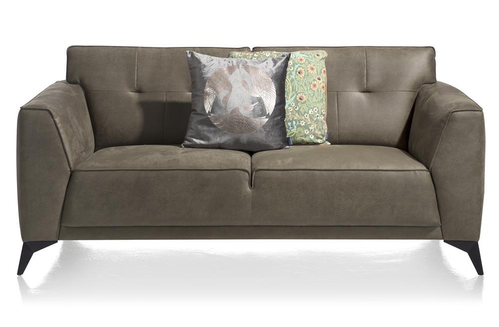 Canapé moderne 2 places en cuir vert olive