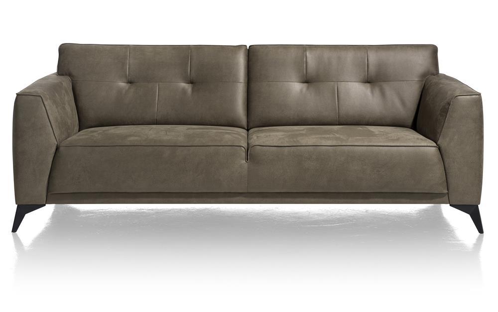 Canapé moderne 3 places en cuir vert olive