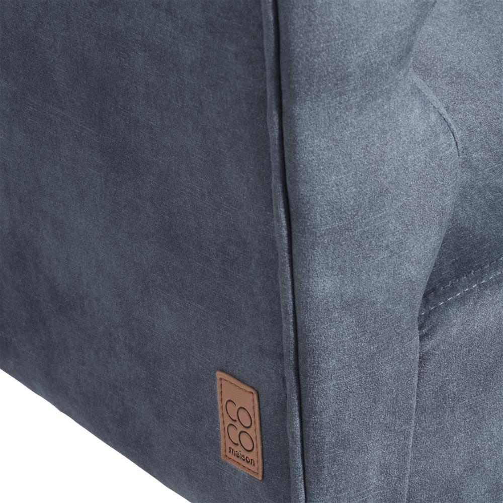 Petit canapé design en velours gris anthracite