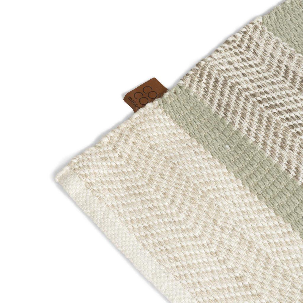 Tapis rectangulaire pour extérieur ou intérieur de couleur naturelle