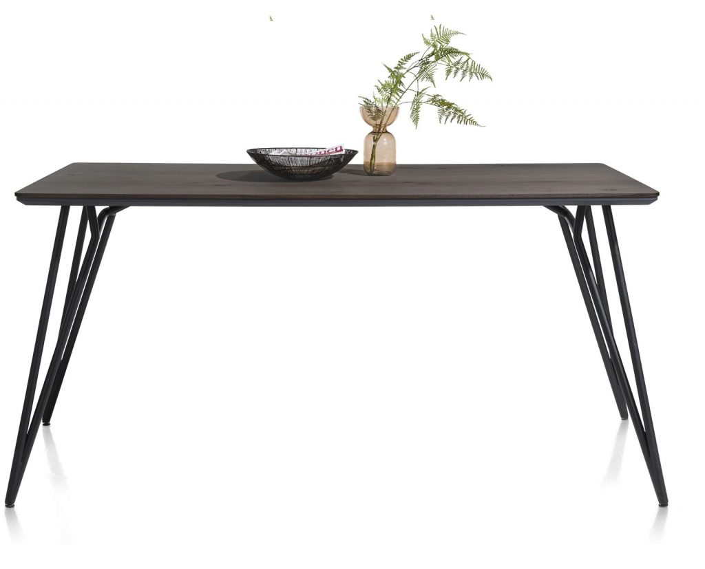 Table de bar scandinave piétement design noir