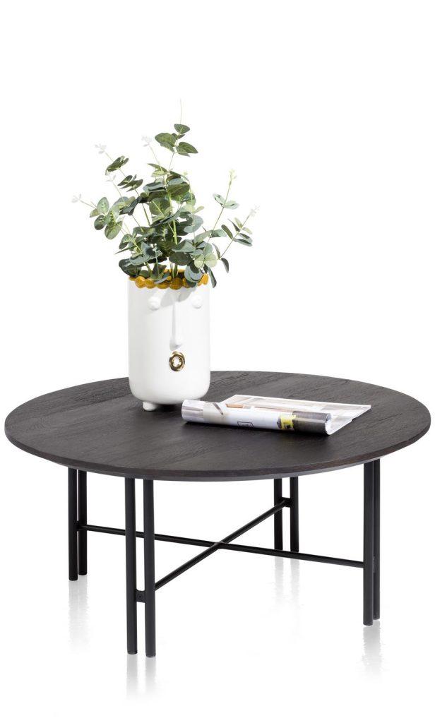Table basse scandinave en bois de chêne piétement design