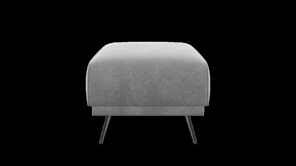 Pouf moderne et minimaliste en tissus gris