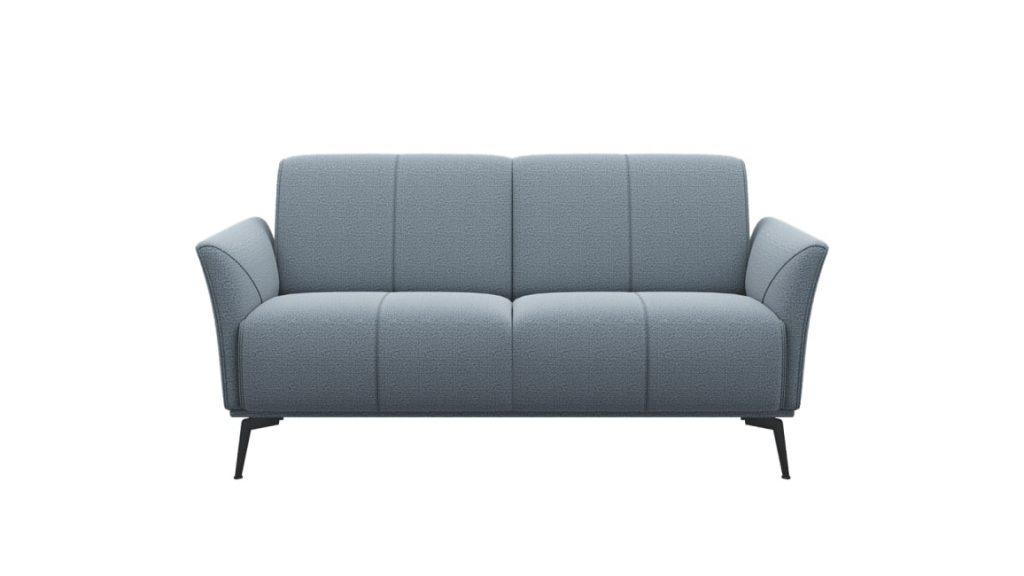 Canapé 2 places minimaliste en tissus gris clair