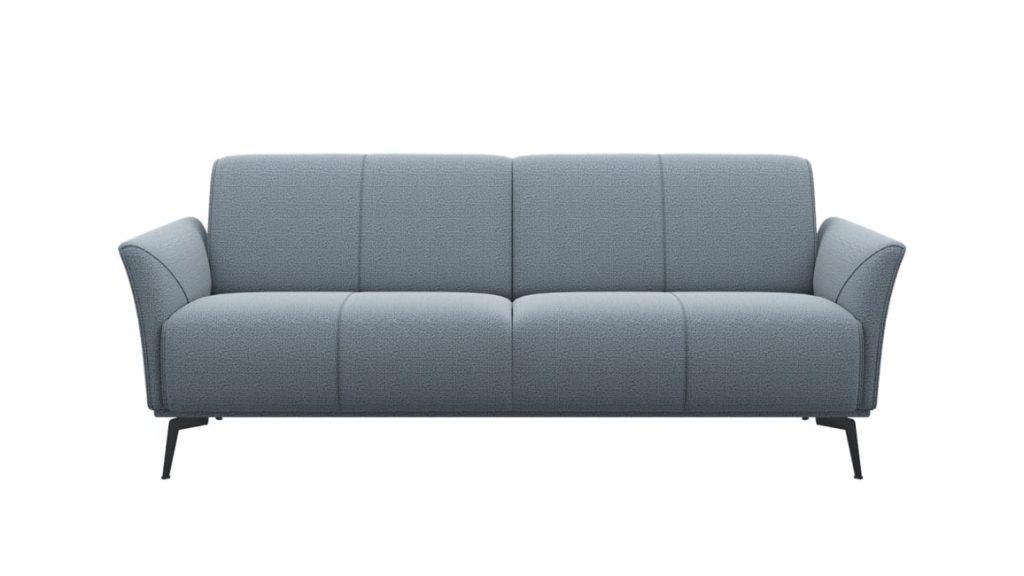 Canapé 3 places minimaliste en tissus gris clair