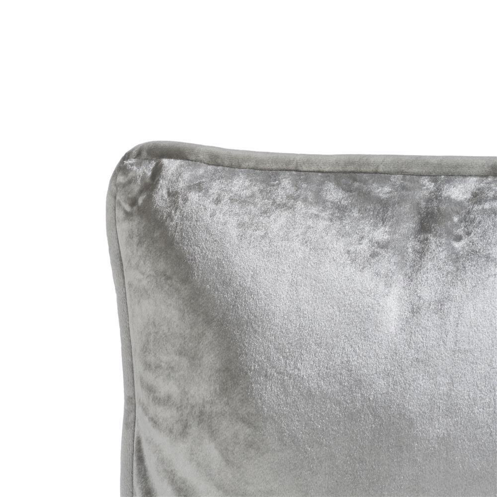 Coussin carré en velours gris