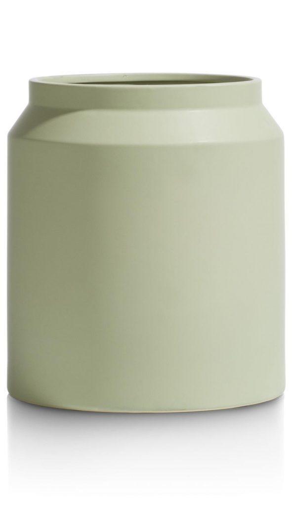 Pot en céramique couleur vert amande