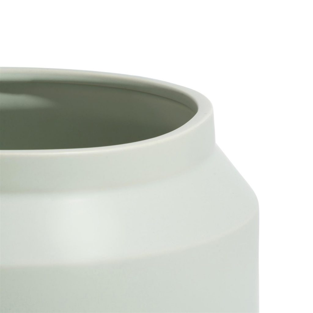 Pot en céramique large couleur menthe