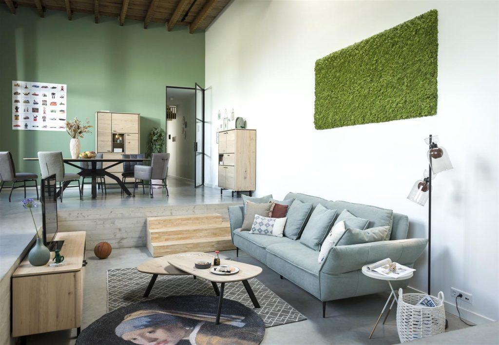 Ambiance salon moderne et scandinave
