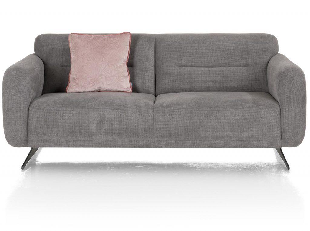 Canapé 2 places en tissus gris