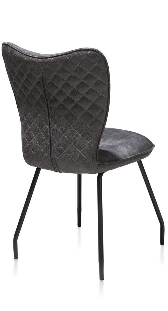 Chaise contemporaine en velours anthracite