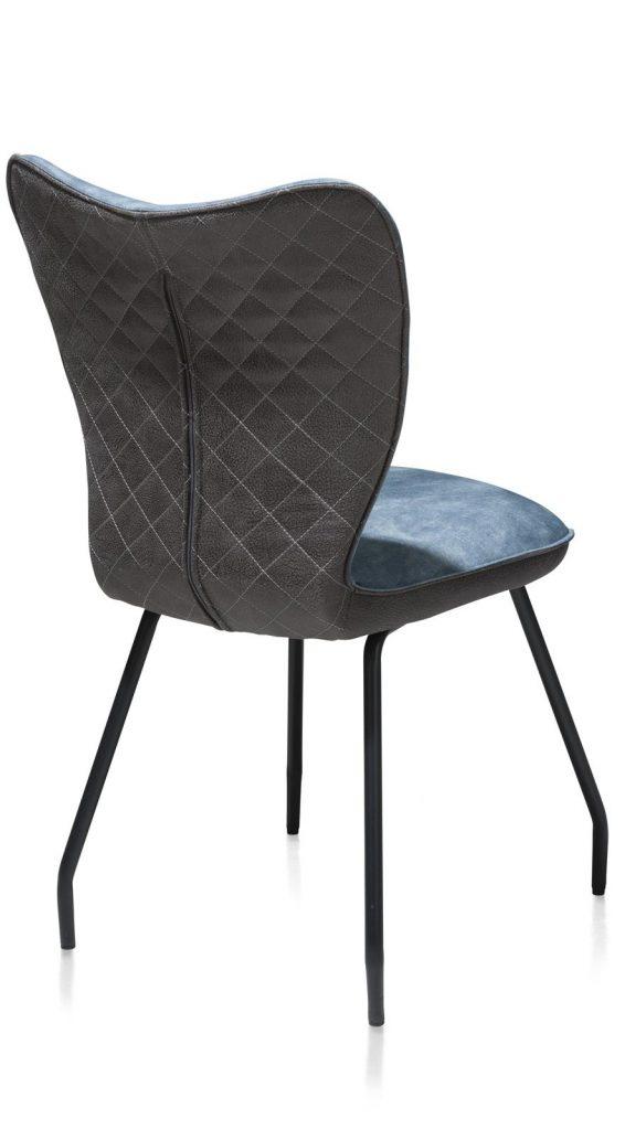 Chaise contemporaine en velours bleu