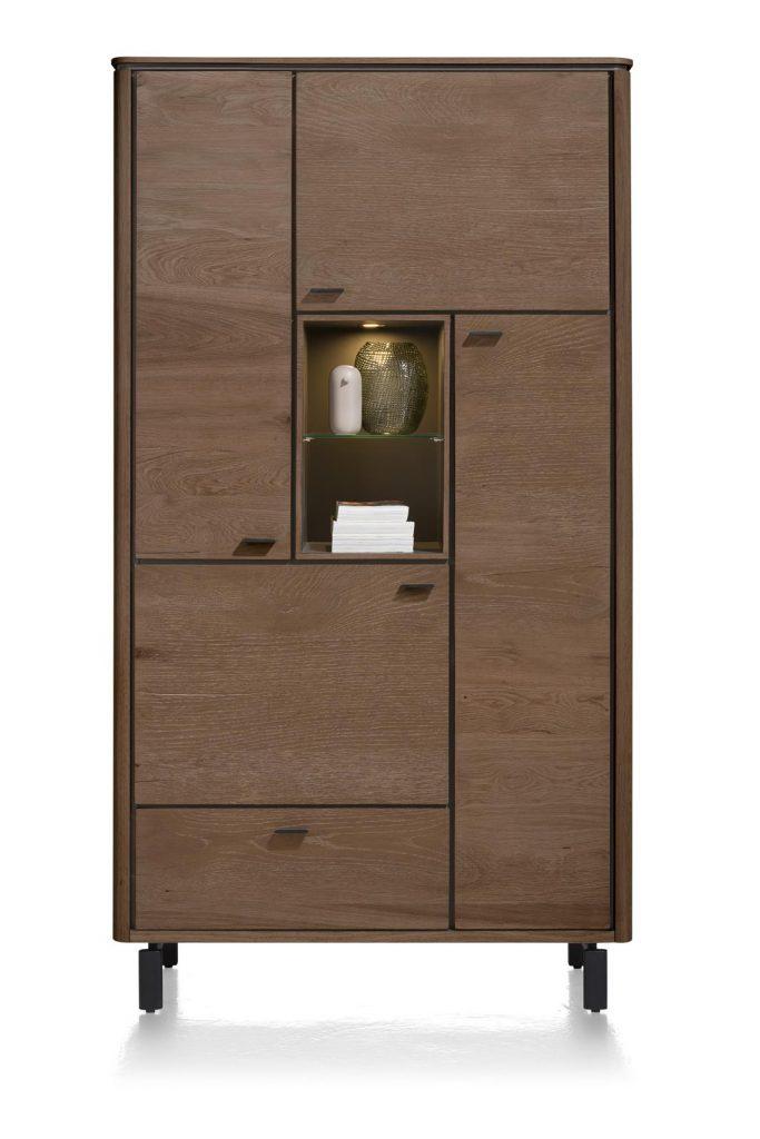 Armoire moderne placage bois de chêne foncé