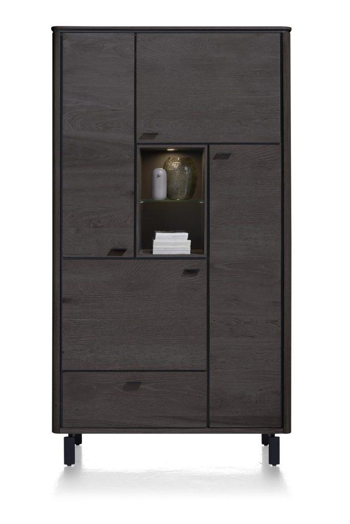 Armoire moderne placage bois de chêne noir