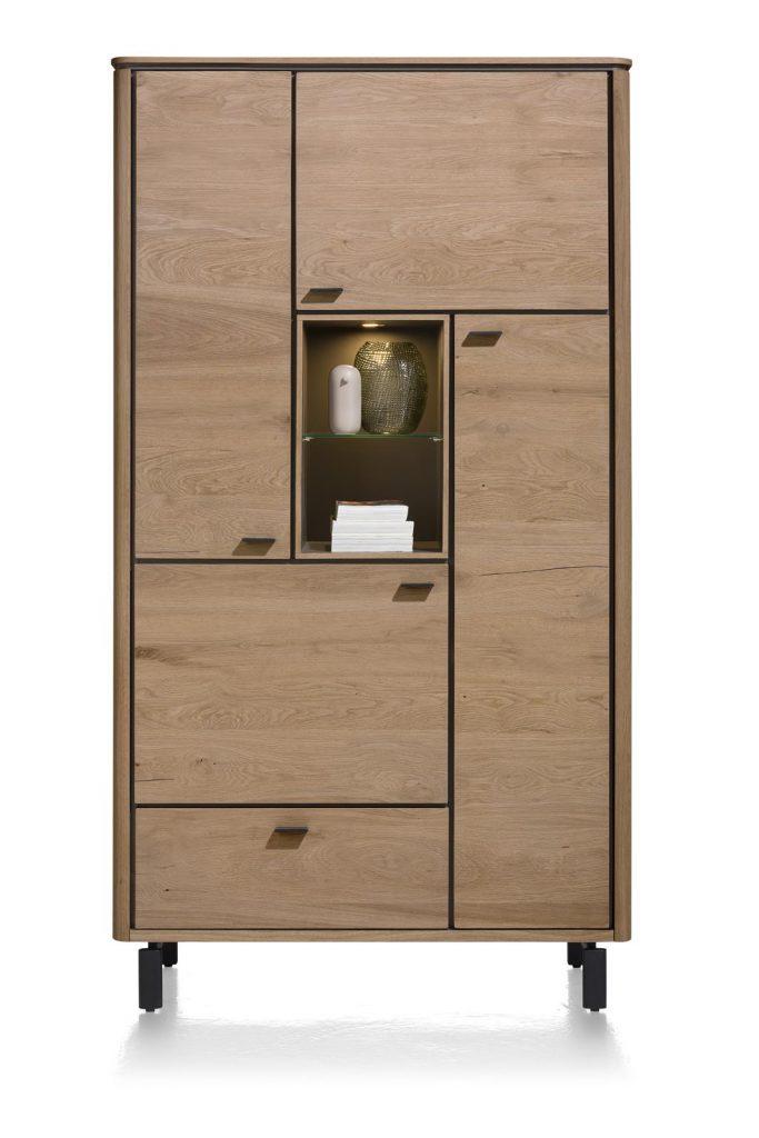 Armoire moderne placage bois de chêne doré