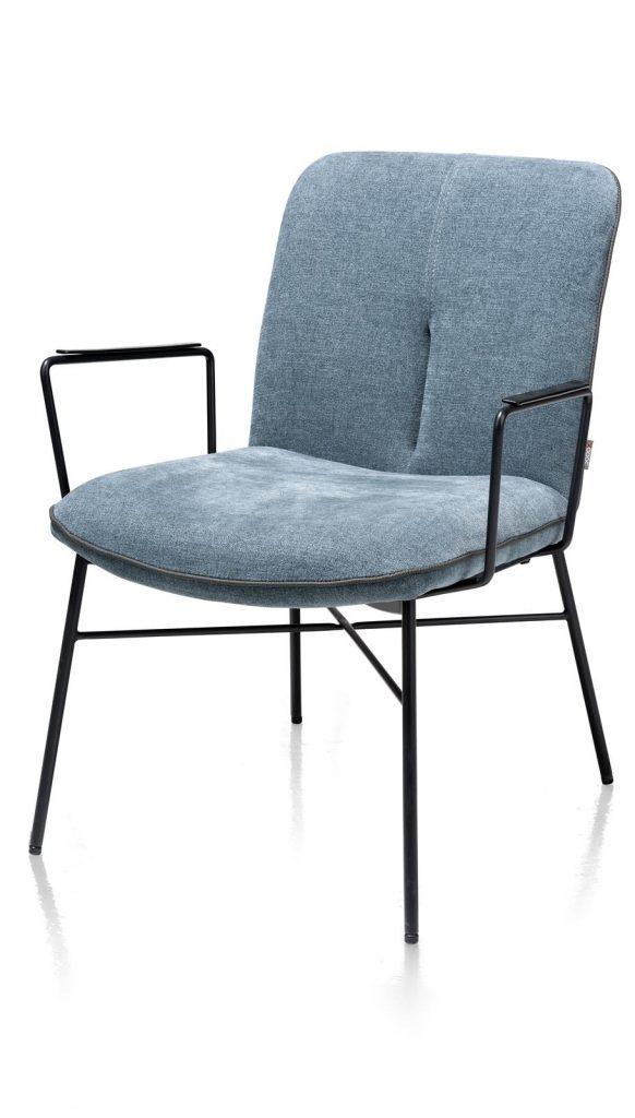 Fauteuil minimaliste en tissus bleu