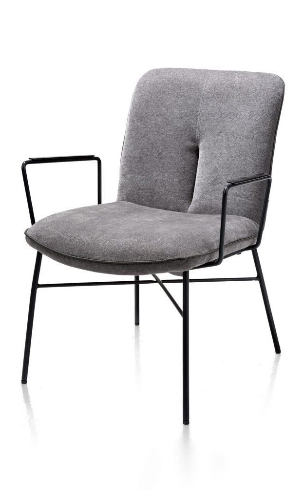 Fauteuil minimaliste en tissus gris anthracite