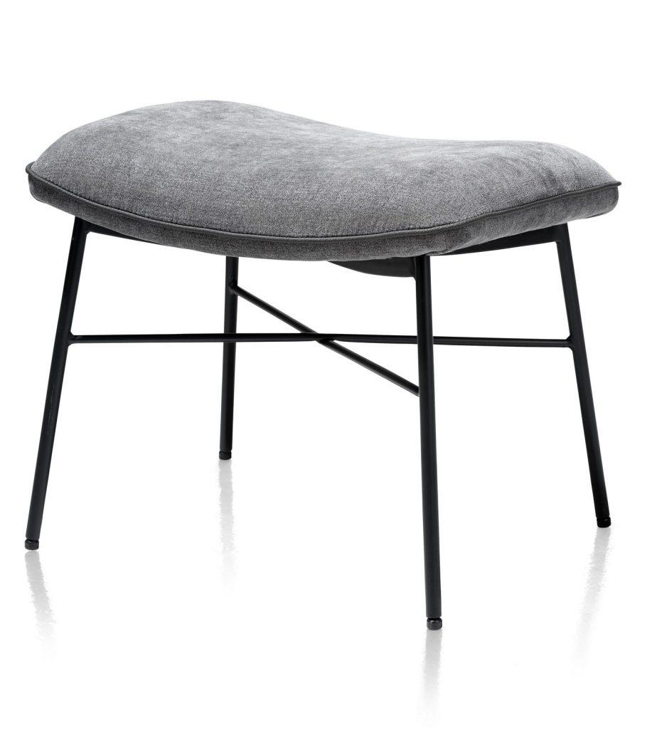 Pouf minimaliste en tissus gris anthracite