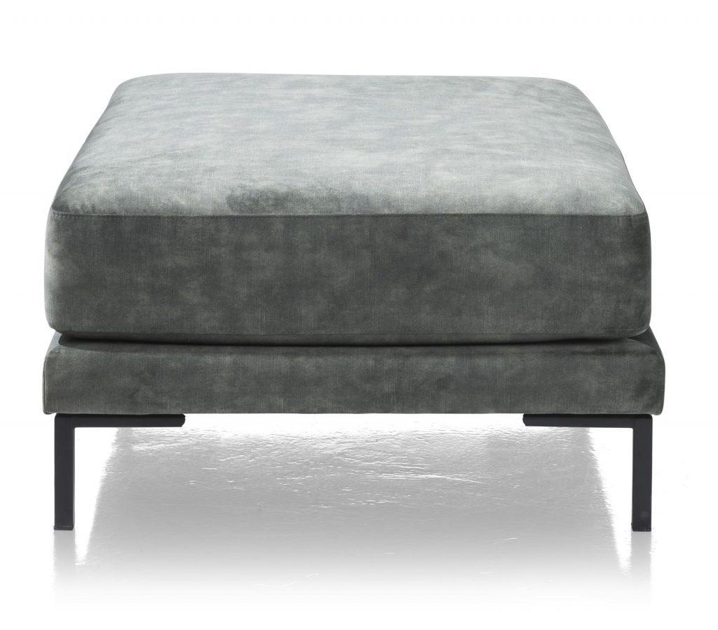 Pouf carré en tissus gris