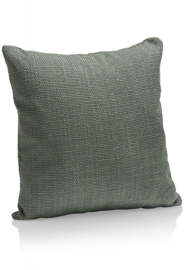 Coussin en tissus carré vert amande