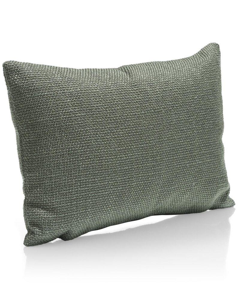 Coussin en tissus rectangulaire vert amande