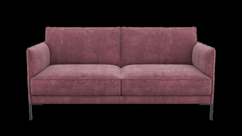 Canapé 2,5 places moderne en tissu rose