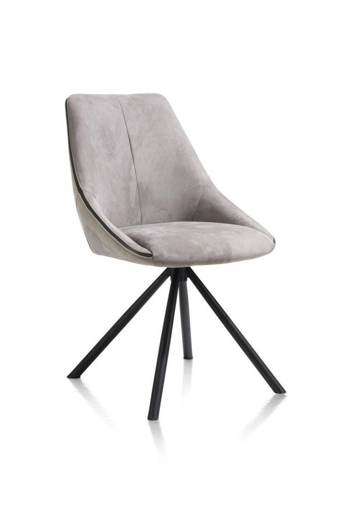 Chaise moderne et confortable en tissu gris