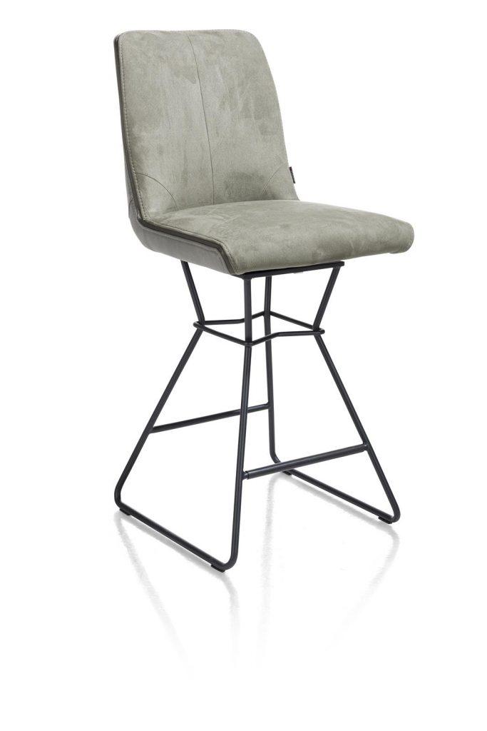 Chaise de bar moderne et confortable en tissu vert