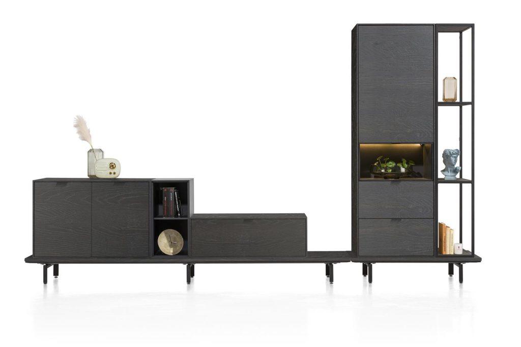 Ensemble de meubles de salon combinés en placage bois