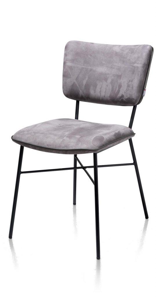 Chaise minimaliste en tissu gris