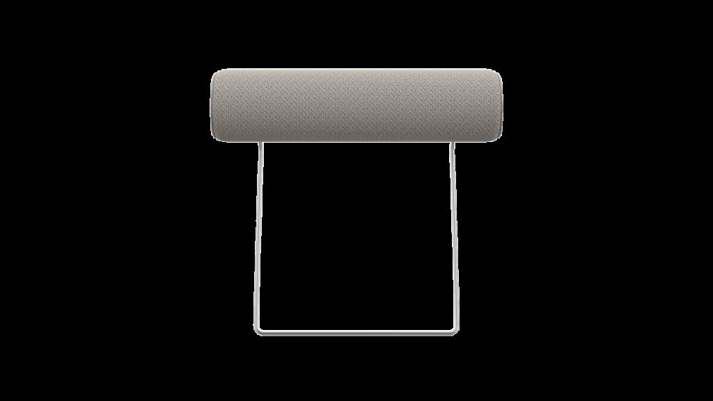 Appuie-tête de canapé en tissu gris clair