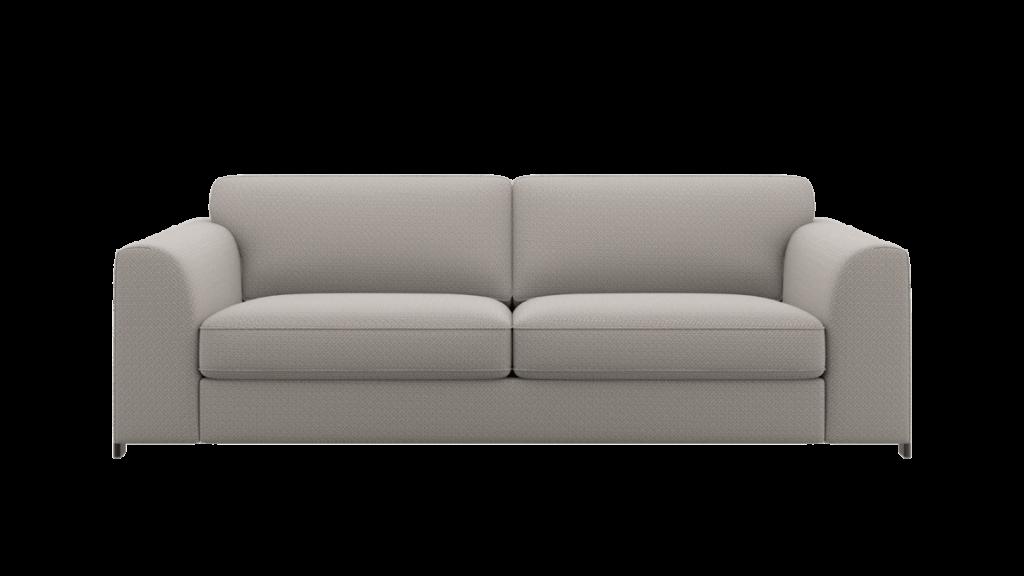 Canapé 3,5 places en tissu gris clair