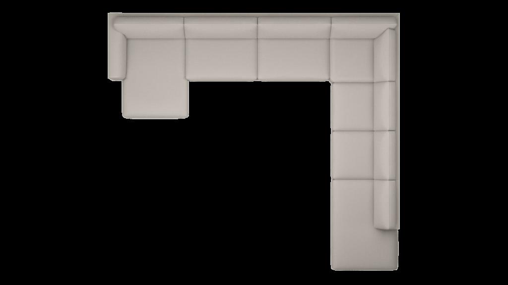Visuel grand canapé d'angle en tissu gris