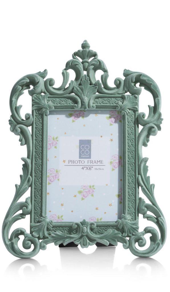 Cadre photo baroque couleur menthe