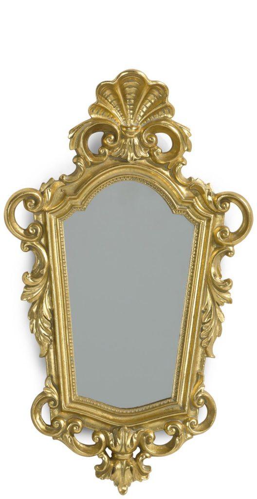Miroir doré au style classique et baroque