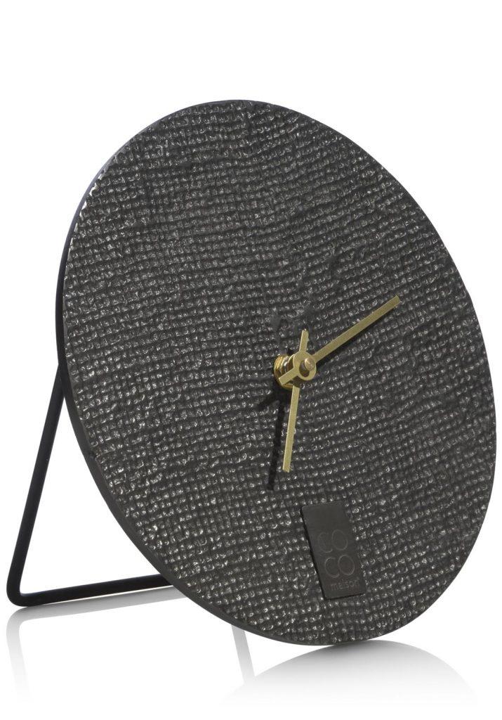Horloge à poser gris anthracite moderne et minimaliste
