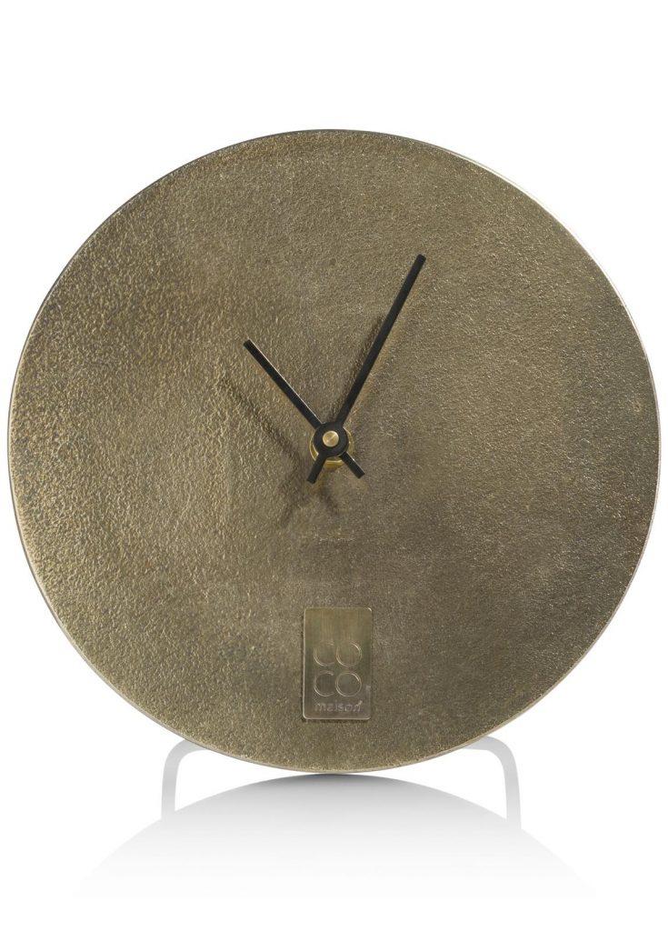 Horloge à poser dorée moderne et minimaliste