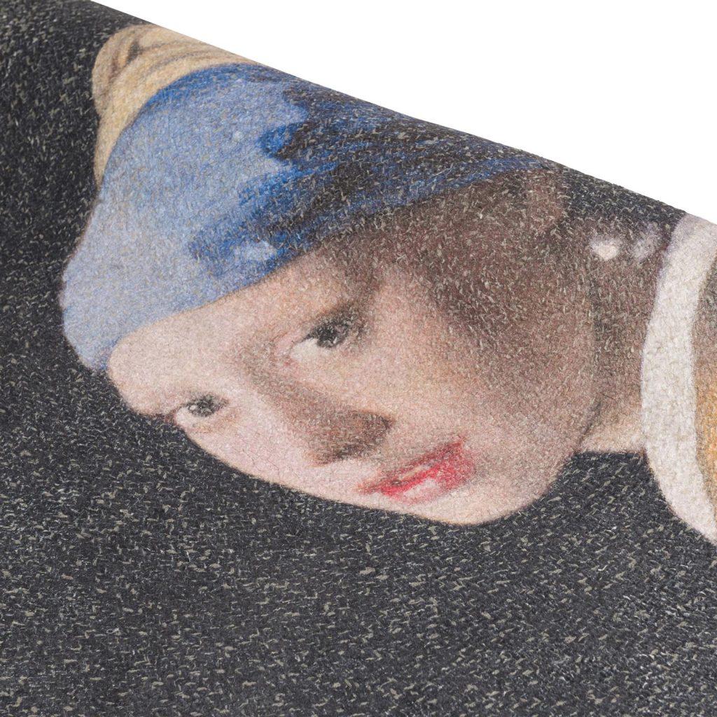 Tapis rond art déco la fille à la perle